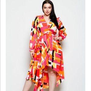 Plus size asymmetrical dress.